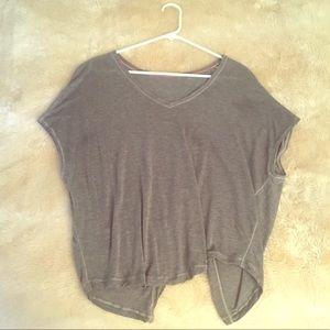 🎉LIKE NEW lululemon grey flutter back tshirt